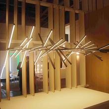 Новый современный мода длинные офиса студии работает домохозяйство трансформер моделирование люстра светильник led