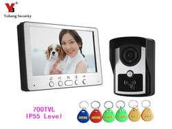 Yobang безопасности 700 ТВЛ охранных Видеодомофоны Системы Ночное видение открытый Камера видео-телефон двери Видимый Дверные звонки комплект