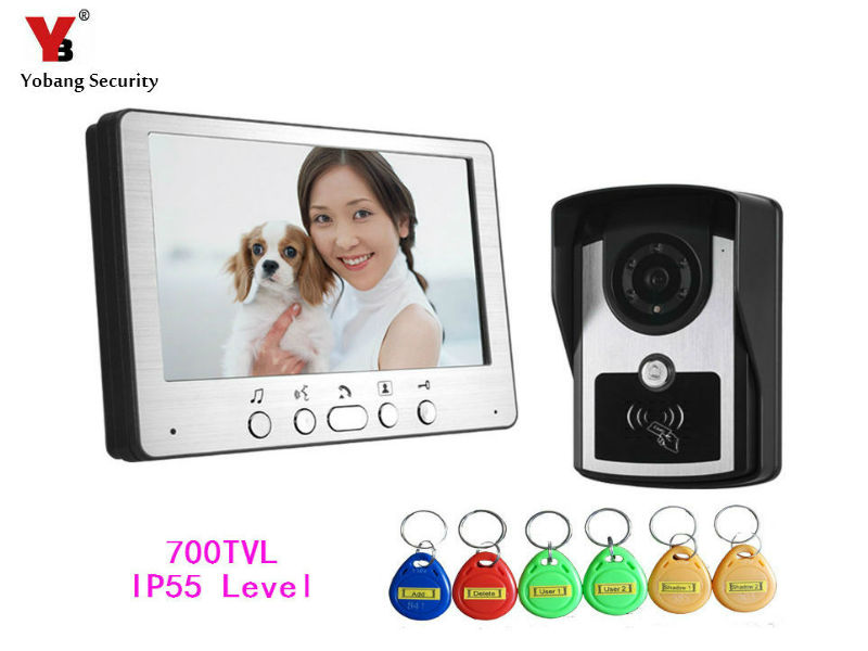 Yobang Security 700 TVL Home Security Video Intercom System Night Vision Outdoor Camera  Video Door Phone Visible Doorbell Kit цена и фото