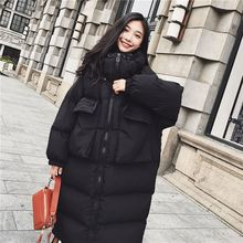 2018 New Oversized Coat Thick Warm Winter Jacket Women Hooded Down Cotton Long Outwear Plus Size Female Loose Wadded Parkas O733