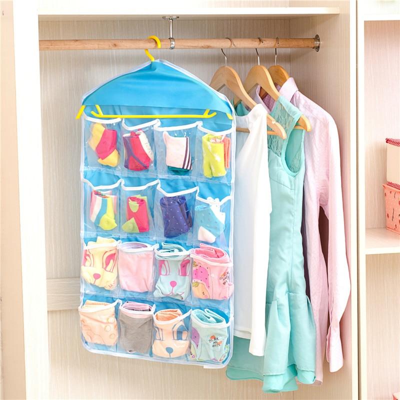 16 pocket Wall Wardrobe Hanging Organizer Home Sundries Jewelry