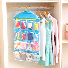 16 pocket Wall Wardrobe Hanging Organizer Home Sundries Jewelry Storage Bag Hanger Organizer For Underwear Cosmetics Storage Box