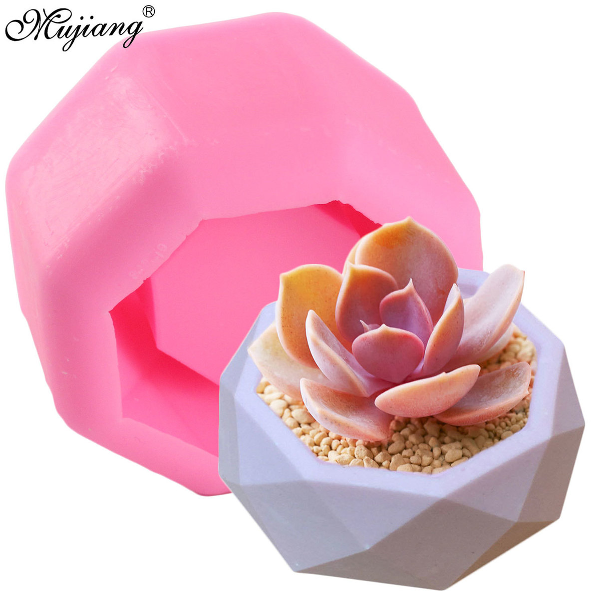 Geometry Design Pot Vase Silicone Concrete Mold Candle Holder Mould Gypsum Plaster Succulent Plants Molds Soap Resin Clay Moulds