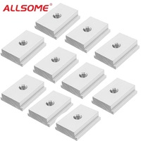 ALLSOME 10pcs M6 M8 T Slot Nut T-Track Sliding Nut For Woodworking   Tool   Slot Fastener HT1883