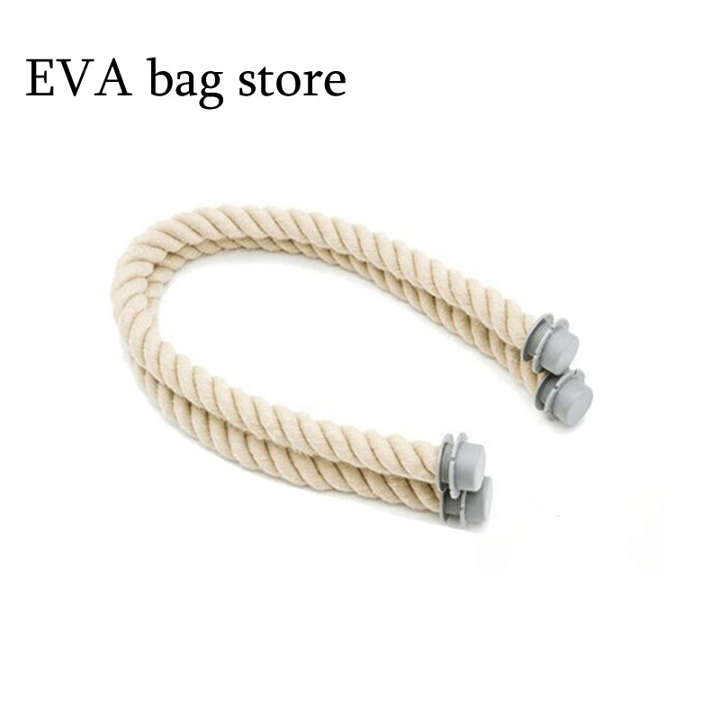 New 65Cm 1 Pair Soft Nature Rope Handle For Italy Obag Handles Handbag Strap Bag Parts Accessories DIY Women's Bags