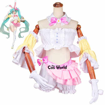 Vocaloid Hatsune Miku Rabbit Ear Tube Tops Underwear Uniform Outfit Anime Cosplay Costumes - DISCOUNT ITEM  25% OFF All Category