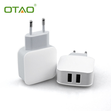 ЕС Адаптер Мобильный Телефон USB Зарядное Устройство Высокой Мощности 2.4A Быстрой зарядки универсальный двойной usb путешествия зарядное устройство для iphone для samsung