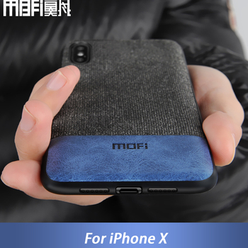 MOFi case for iphonex case cover silicone edge shockproof men business for apple x iphone x back cover for iphonex iphone x case grille