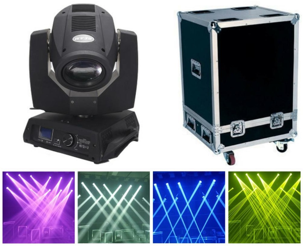1pcs+flightcase, LED Beam Moving Head Light 230W Osram Beam 7R with single or double prism Stage dj Lights dmx disco oct high with 230w beam moving head light large stage lights wedding 230 watt lamp bar