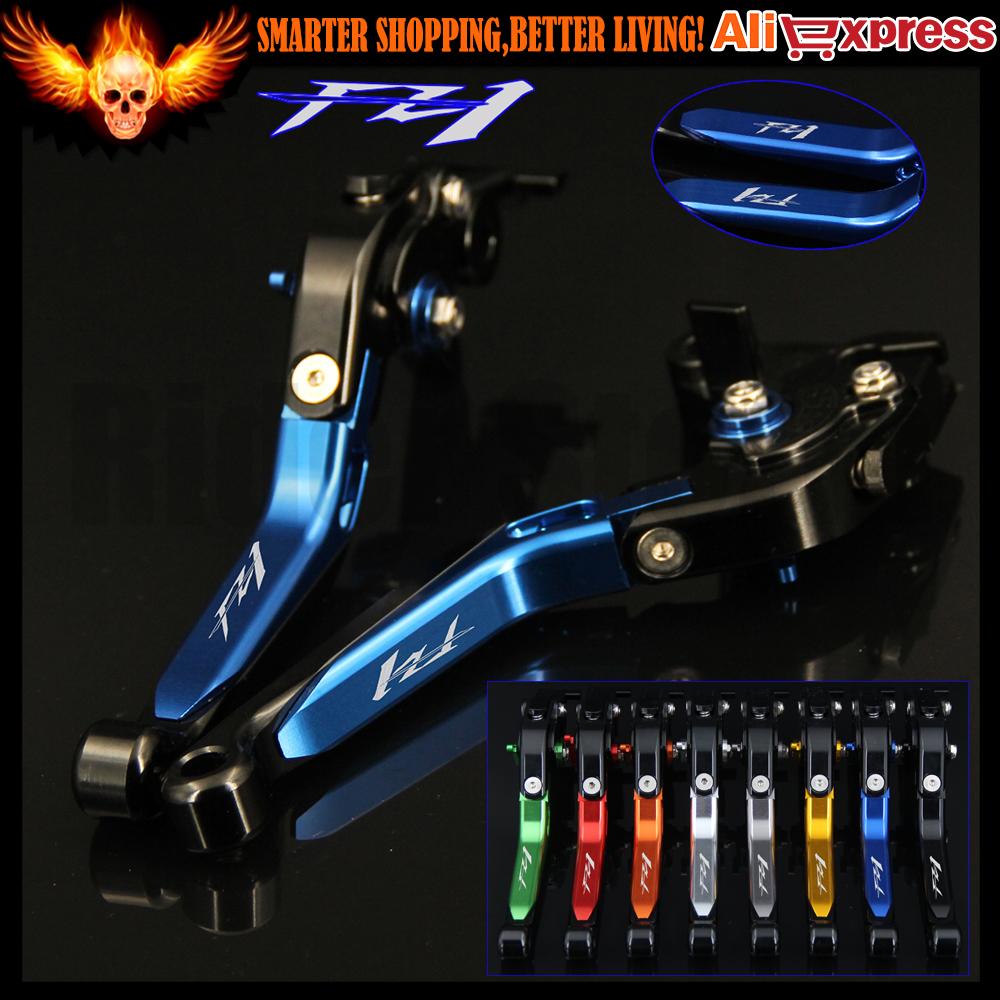 Prix pour Logo fz1 bleu réglable moto frein d'embrayage leviers pour yamaha fz1 FAZER 2006 2007 2008 2009 2010 2011 2012 2013 2014 2015