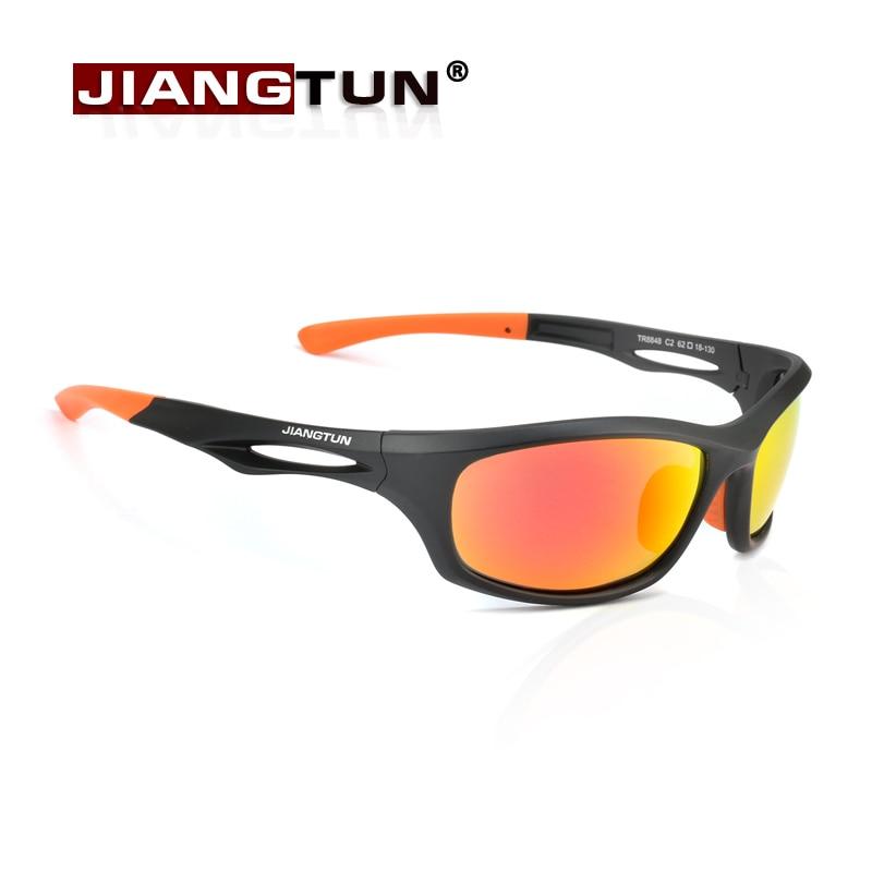 JIANGTUN Flexible TR90 Sport Sunglasses Men Polarized Brand Designer UV400 Protection Sun Glasses Outdoor Cool Goggles