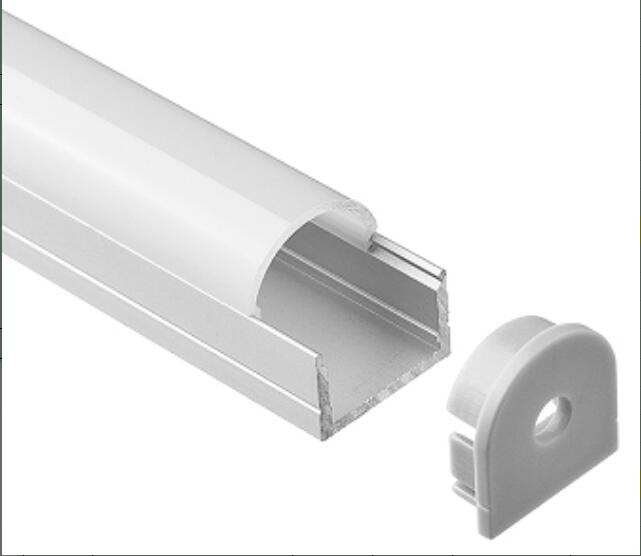 2m/pcs 50m/Lot Free shipping New Design LED Linear Light Cabinet Profile with Milky White or clear cover and plastic end caps 2500pcs lot ll4148 ll34 new and origlanl free shipping