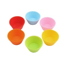 12Pcs Cupcake Liners Mold Round Shape Silicone Muffin Cases Cake Cupcake Liner Baking Mold Bakeware Maker Mold Tray Baking Tools