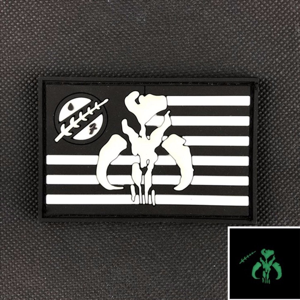 Rubber the bounty hunter patch 3d pvc luminous tactical badge glow rubber the bounty hunter patch 3d pvc luminous tactical badge glow in dark usa america flag emblem army brassard combat armband in patches from home buycottarizona Image collections