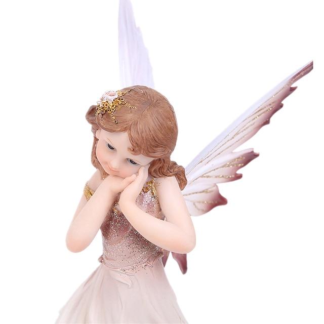 Unicorn Horn Fairy Angel Figurines Lovely Girl Flower Fairy Statue  3