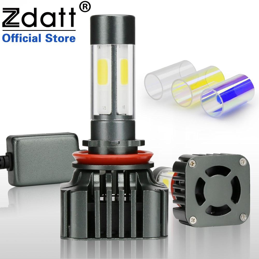 Zdatt 360 Degrés D'éclairage Super Lumineux H8 H11 Led Phare Ampoule 6000 K 100 W 12000LM De Voiture Led Lumière 12 V Brouillard Lampe Conversion Kits