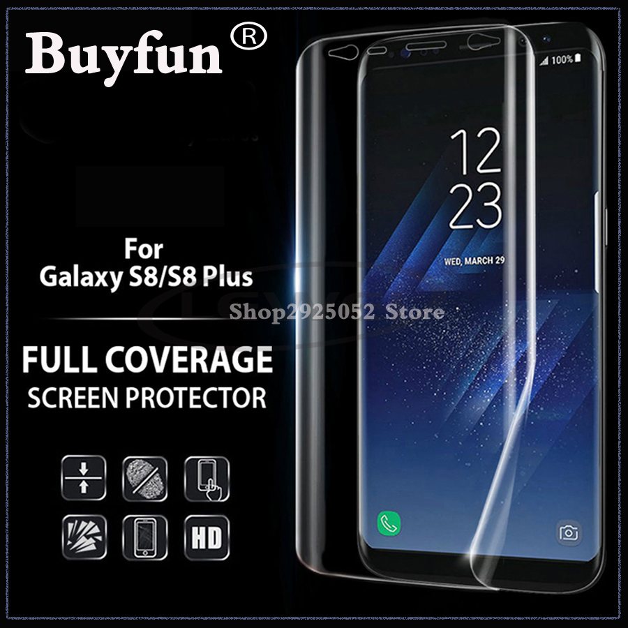 For Samsung Galaxy S8 S 8 Screen Protector 3D Curved Full Cover Protective Film For Samsung S8 plus Film (Not Tempered Glass)