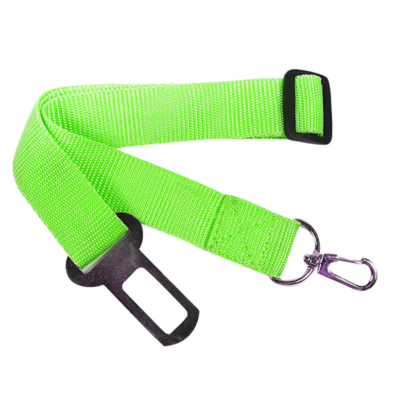 Candy Color Vehicle Car Seat Belt Seatbelt Harness Lead Clip Pet Cat Dog Safety Belts Nylon Solid Pet Dog Cat Puppies 40JA10 (8)