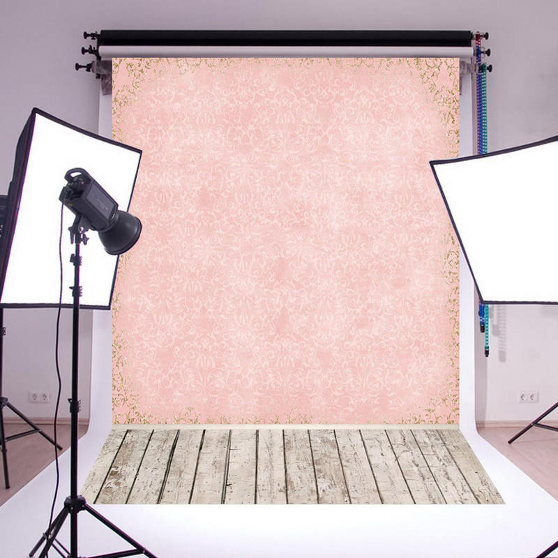 Mayitr New 5x7ft Pink Wall Wood Floor Photo Backdrop Photography Background Studio Props For photography party bar dark wall photography backdrops indoor wood floor photo background studio props custom vintage backdrop fotografia