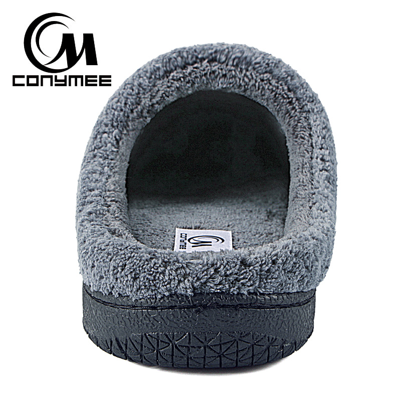 f070a5017 CONYMEE Winter Home Slippers Men Casual Indoor Shoes Plus Size Warm Plush  Slippers Pantufa For Mens Floor House Cotton Slipper-in Slippers from Shoes  on ...