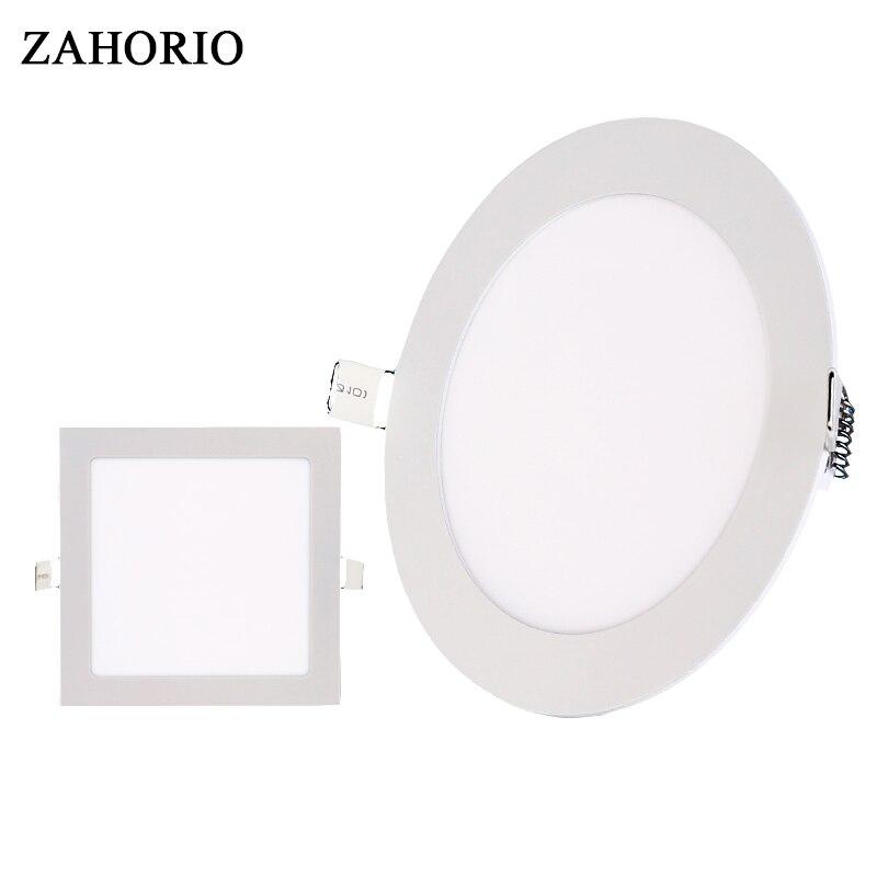Ультра тонкий светодиодный Панель Light 3 Вт 4 Вт 6 Вт 9 Вт 12 Вт 15 Вт 18 Вт круглый /Площадь Потолочные встраиваемые свет SMD2835 светильники AC85-265V Бесп...
