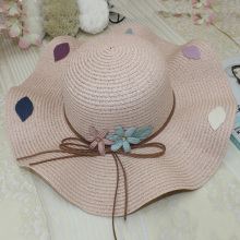New Ladies Straw Hat Artificial Flower Wide-Brimmed Solid Color Woven Visor 2019 Summer Travel Retro Lady Beach