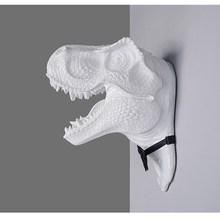 Gentleman Dinosaur Wall Hanging Sculpture Animal Arts Statue Resin Crafts Home Ornaments Art L3174
