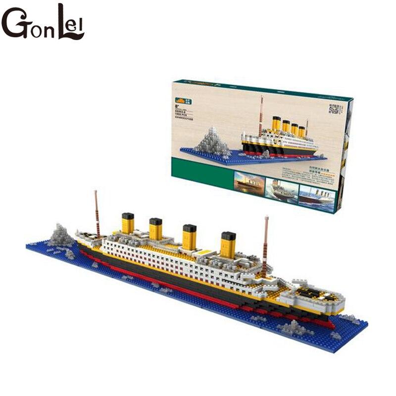 GonLeI LOZ Titanic Blocks Diamond Building Blocks DIY Assemblage Model Mini Bricks Romantic Present Gift for Friend and Family