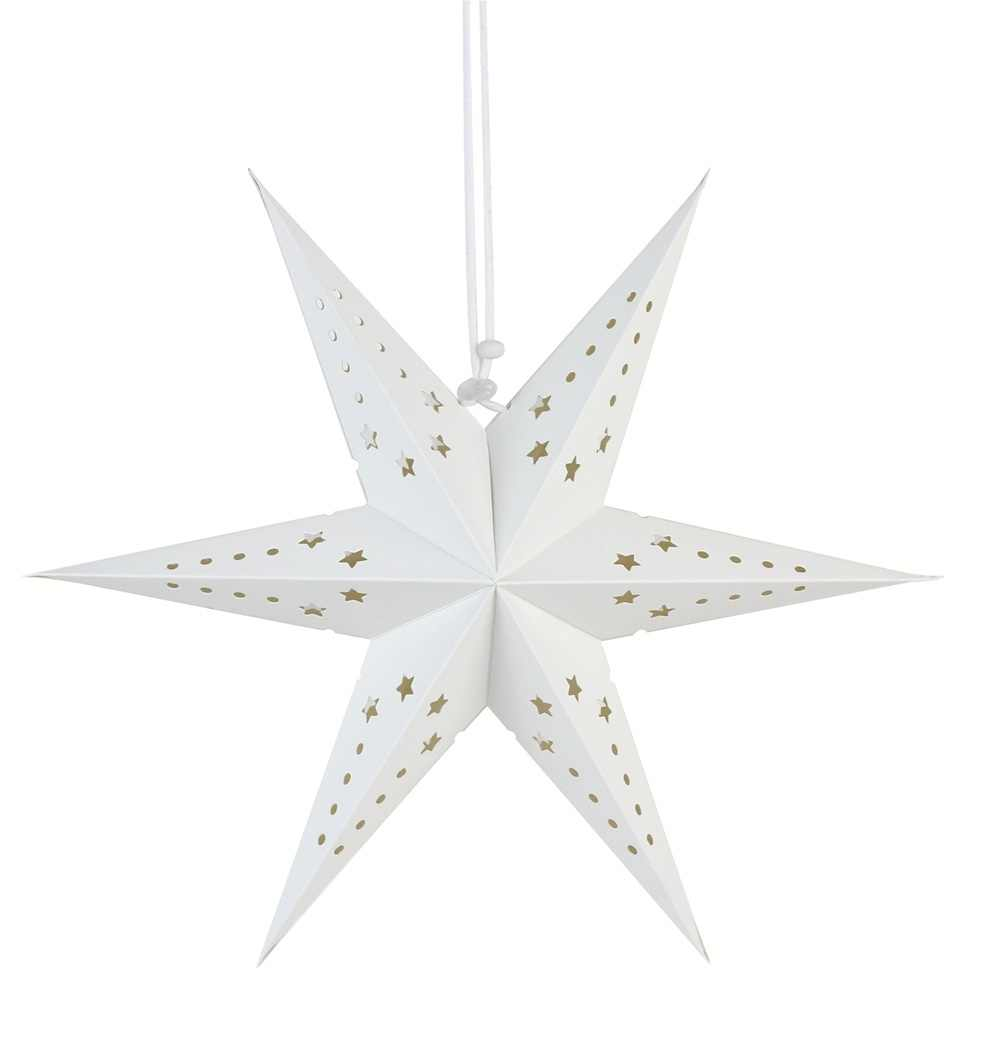 Christmas Ornaments Decorations 1pc Hanging Paper Star Lantern Silver White For Merry Home New