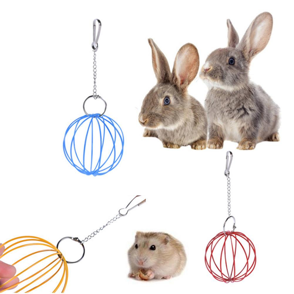 8 5cm Hanging Wire Ball Hamster Rabbit Guinea Pig font b Pet b font Toy Food