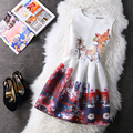 Z&Y 2016 Women Summer A-line Dress Vintage Printed Sexy Sleeveless Party Vestido De Festa Female Clothing Jacquard Dresses