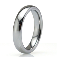 Free Shipping 4MM Plain Dome Women Men S Tungsten Carbide Wedding Engagement Rings Classic Jewelry US