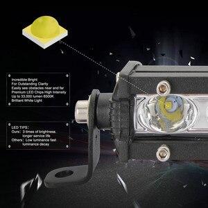 Image 3 - Luces Led Para Auto simple rangée mince LED barre lumineuse droite 8 pouces 18W 6LED Jeep UTV 4x4 bateau camion lampes LED pour les voitures