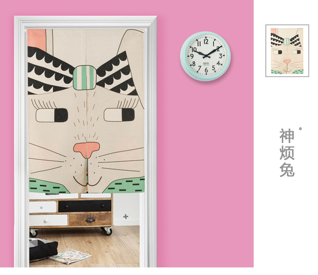 Japan style cotton cartoon lovely children door curtain decoration ...