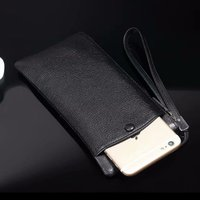 Genuine Cow Leather Hand Strap Mobile Phone Pouch Case Bags For iPhone 8 Plus,For iPhone 7/6s Plus,Leagoo Power 5/M9 Pro/T5C/