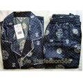 Бесплатная поставка Китайских людей Silk Район 2 шт. Ночное Одеяние пижамы пижамы Наборы Ванна Платье L XL XXL SH009