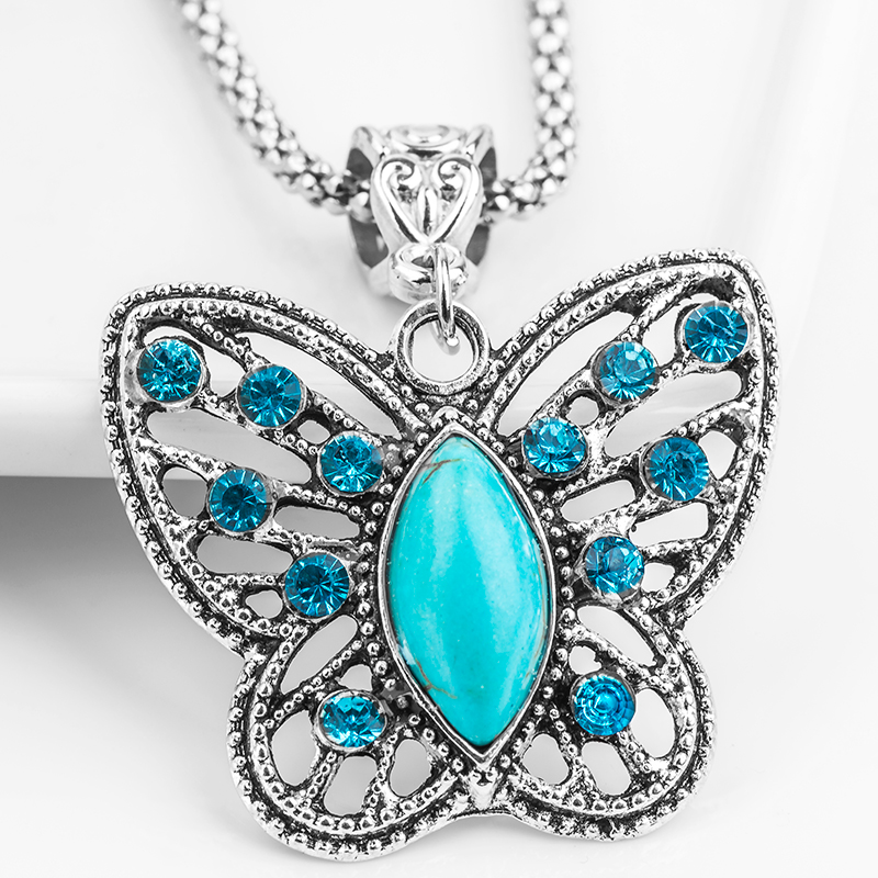 Blue Butterfly Necklace