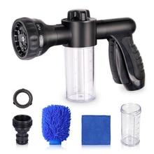 4pcs/set Foam Water Gun Car Washer 8 in 1 Jet Spray Gun Soap Dispenser Washing Garden Water Gun Hose Nozzle Wash Cleaning Tool недорого