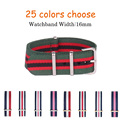 16mm Nylon Strap for Fashion Watch Top Quality Luxury Watchband Colors Choice for Watch Bands Women Mens Wristband for Hours