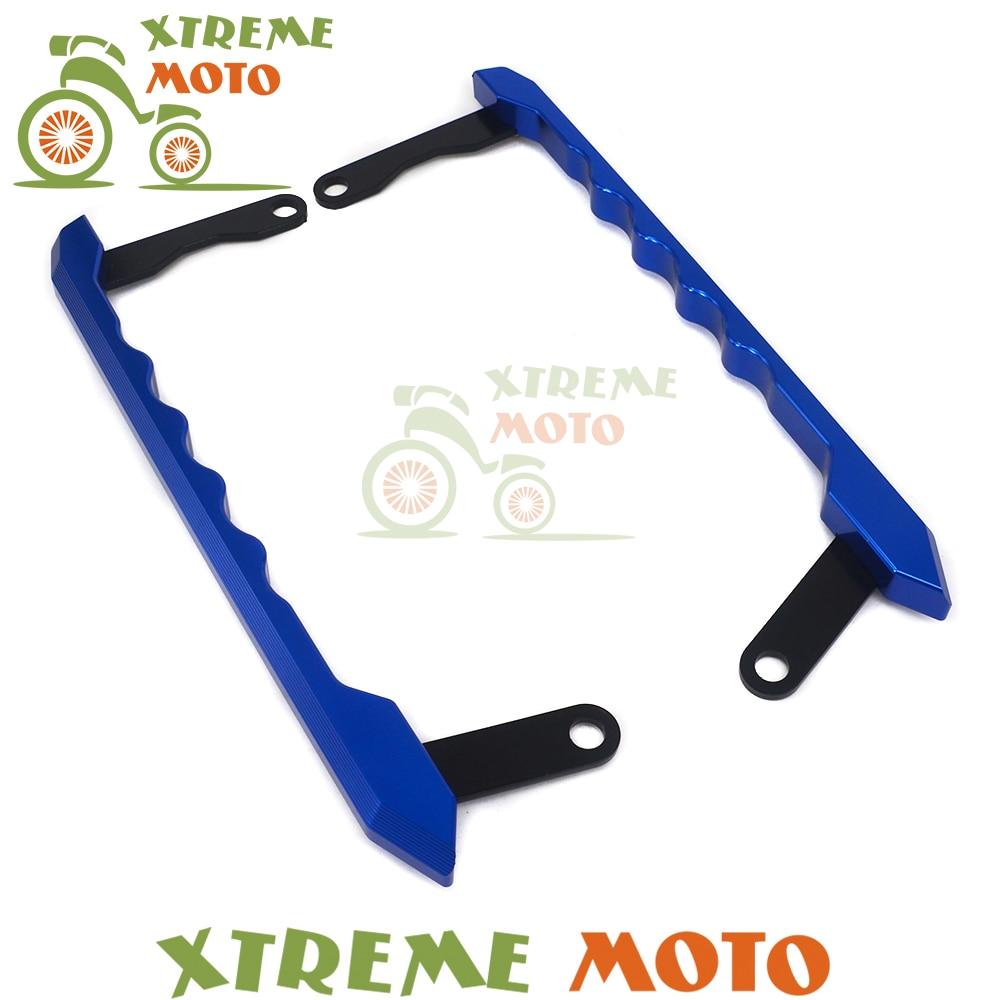 Blue CNC Motorcycle Rear Passenger Seat Hand Handle Grab Bars Rail For MT-09 FZ-09 MT09 FZ09 13 14 15 16Dirt Bike Motocross