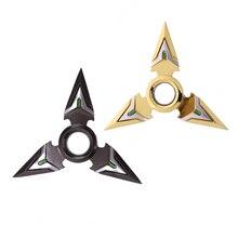 Tri-Spinner Fidget Juguete de Metal EDC Mano Spinner Para El Autismo y EL TDAH Ansiedad Estrés Alivio Focus Juguetes Embroma el Regalo