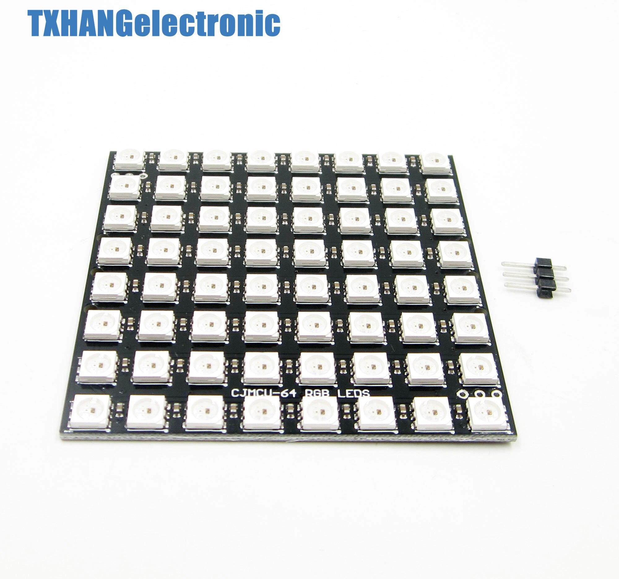 8x8 64 LED Matrix WS2812 LED 5050 RGB Full-Color Driver Board