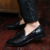 2017 Hombres Del Verano de La Borla de Punto Patrón Del Dedo Del Pie Mocasines de Cuero Azul Rojo Amarillo Tamaño del EUR 38-43 Boda de Citas de Peluquero de Zapatos