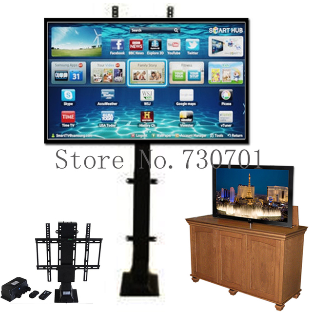Electric automatic TV Lift shelves with Remote Control for hotel ...