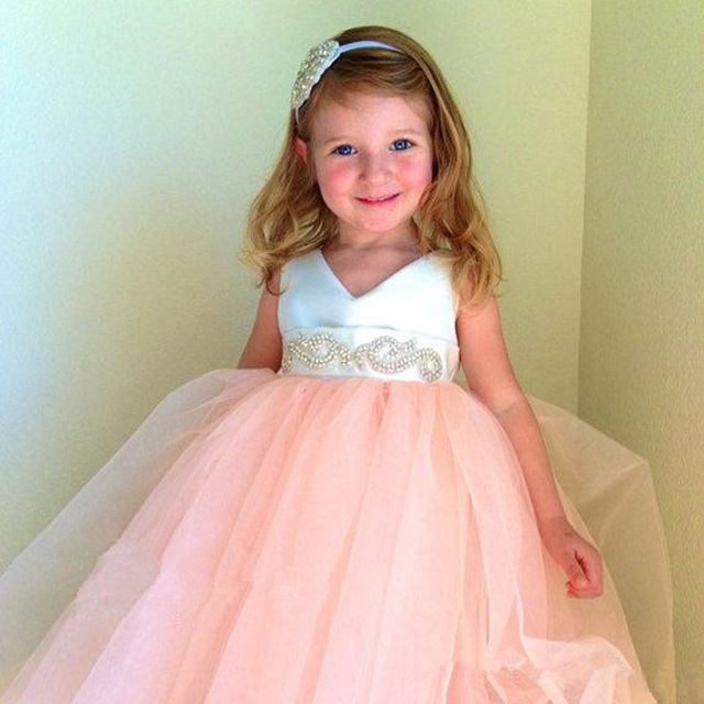 Coral Flower Girl Dresses 2016 Mint Green Kids Prom Dresses Vestido ...