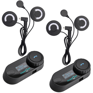 Гарнитура FreedConn для мотоциклетного шлема, 2 шт., Bluetooth, переговорное устройство, fm-жк-дисплей, для шлема с полным лицом