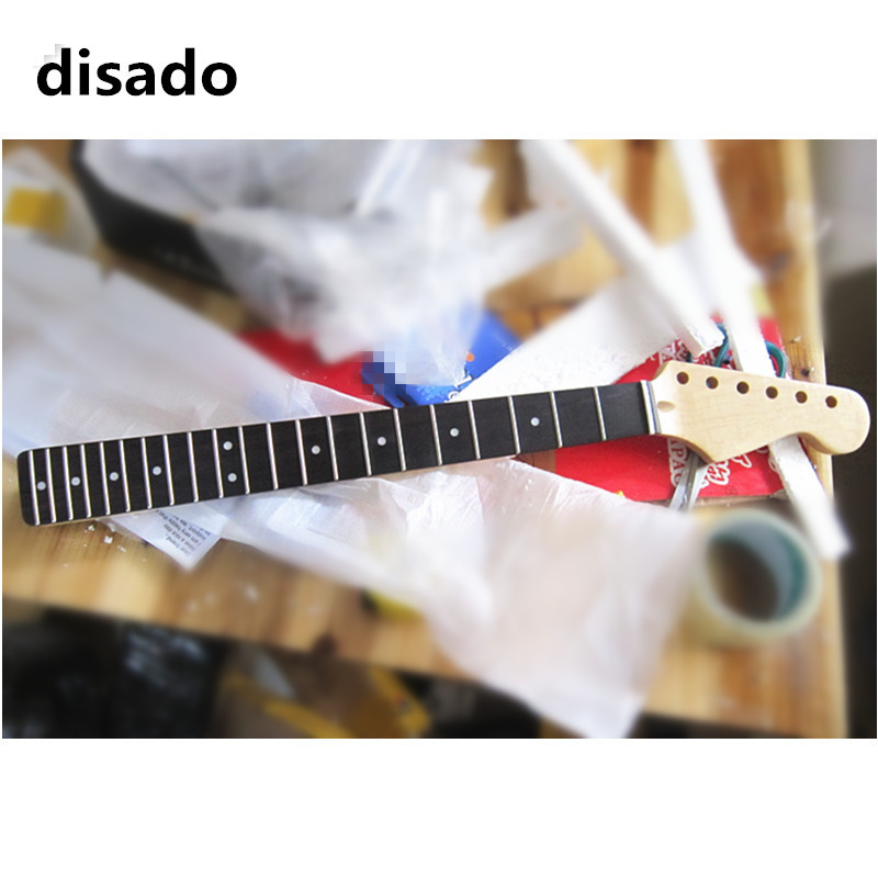 disado 21 Frets inlay dots maple Electric Guitar Neck rosewood fingerboard wood color guitar accessories can be customized black color 24 frets holt on one electric guitar neck mahogany wood and rosewood fingerboard 171