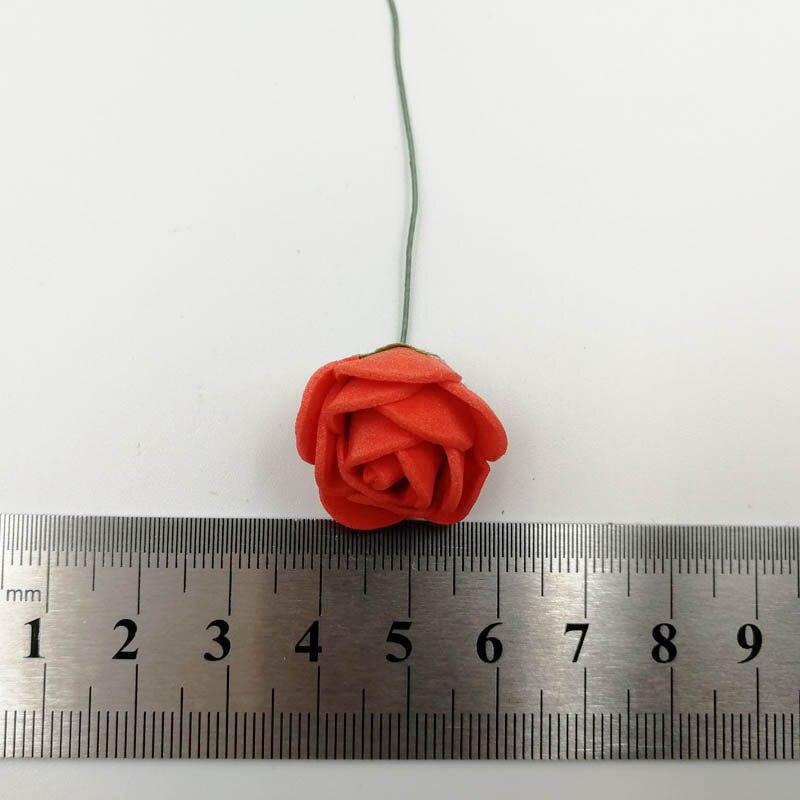 144pcs packs 2cm Mini Foam Rose Artificial Flower Bouquet Rose Home Wedding Flower Decoration Scrapbooking DIY Fake Rose Flower in Artificial Dried Flowers from Home Garden