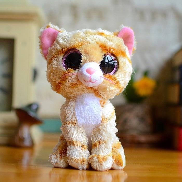 Большие глаза Набивные плюшевые игрушки Ty Beanie Боос серый Кот плюшевые игрушки куклы для маленьких девочек подарок на день рождения мягкие и...