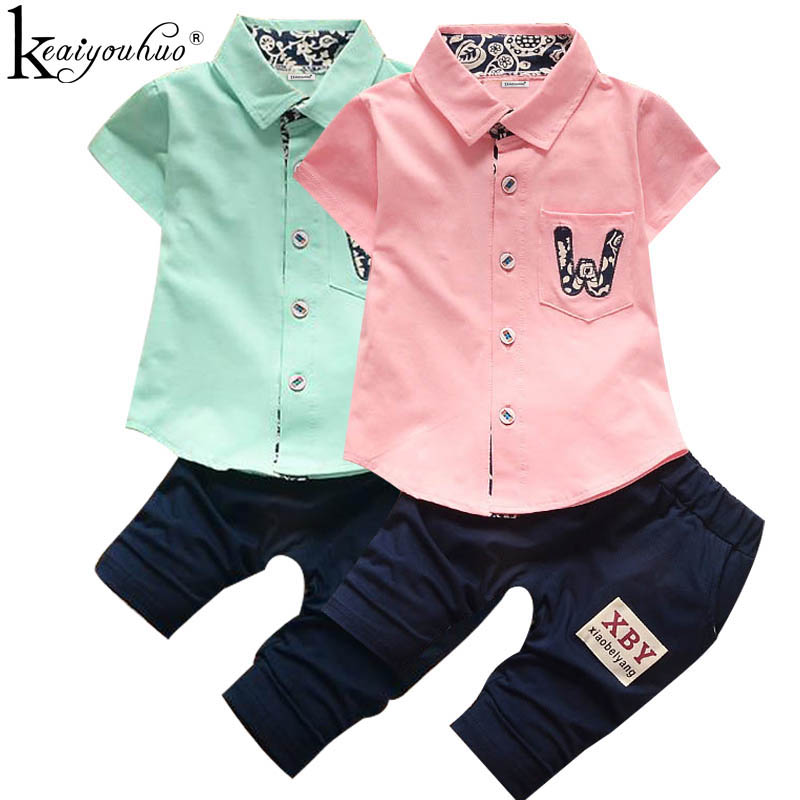 KEAIYOUHUO Summer Outfit Suit Children Clothing Set Clothes